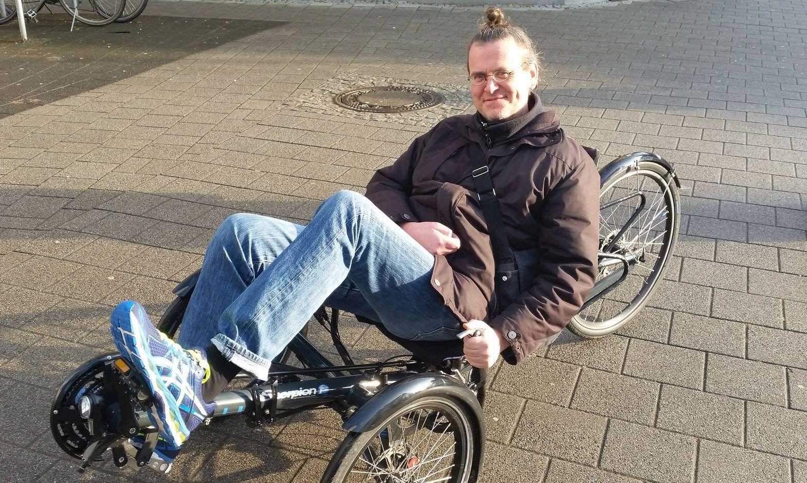 Kai-Eric Fitzner mit seinem Wunsch-Fahrrad