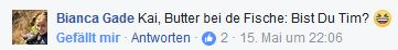 Bianca Gade fragt: Kai, Butter bei de Fische: Bist du Tim?