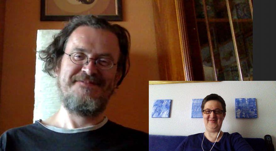 Kai und Annette via Skype