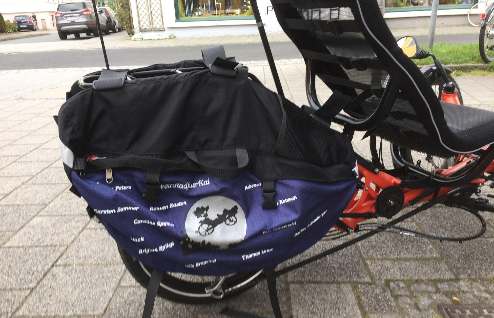 Fahrradtasche auf dem Gepäckträger