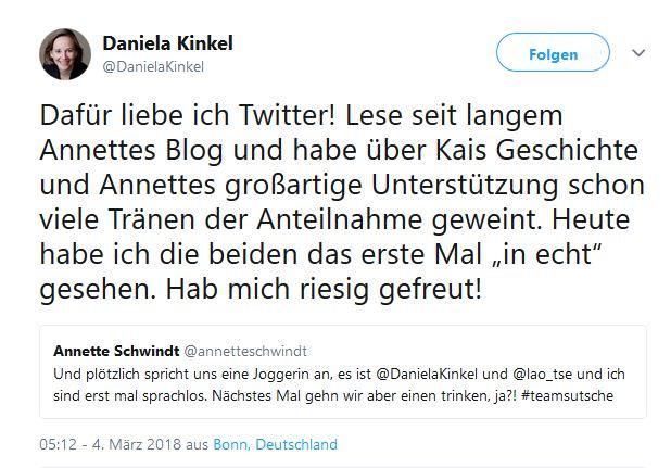 Daniela auf Twitter