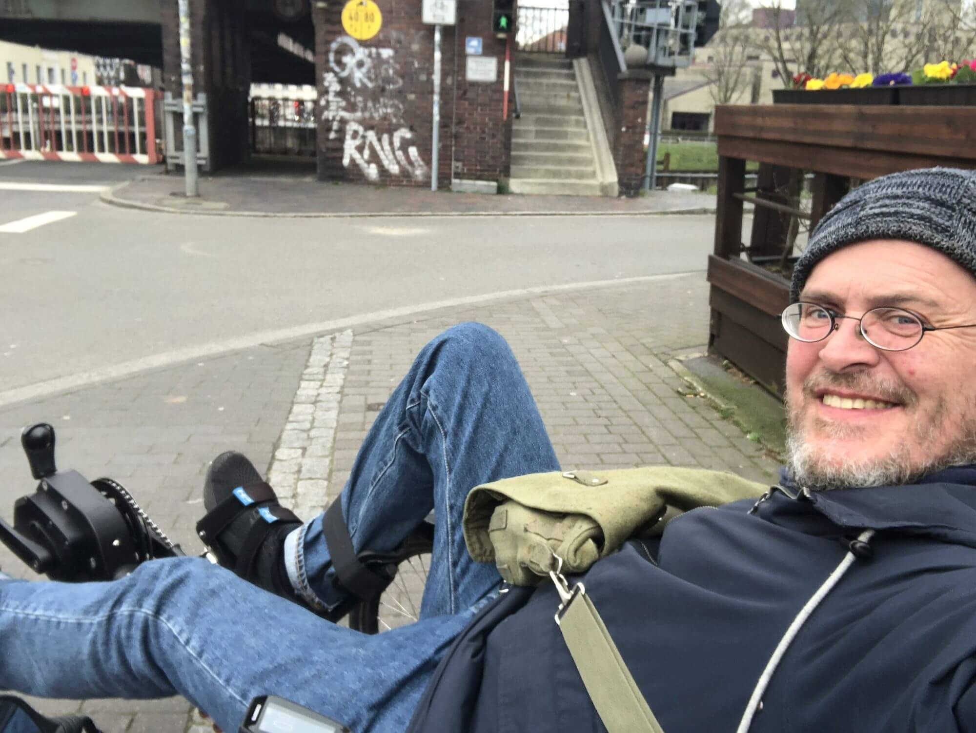 Selfie von Kai auf seinem Rad